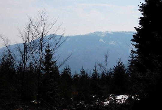 Widok na Czupel (933 m n.p.m.) - najwyższy szczyt Beskidu Małego.