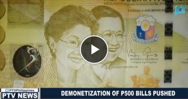 Watch: Atty. Larry Gadon pushes petition to demonetize P500 bills