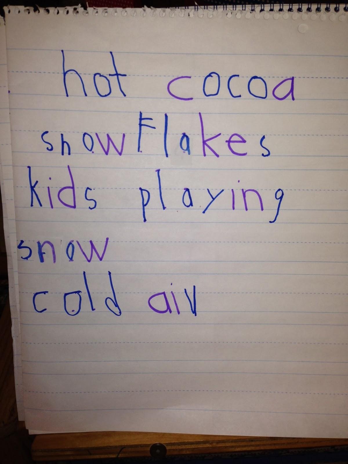Chalk Talk A Kindergarten Blog Sensory Details Poetry