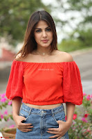 Rhea Chakraborty in Red Crop Top and Denim Shorts Spicy Pics ~  Exclusive 215.JPG