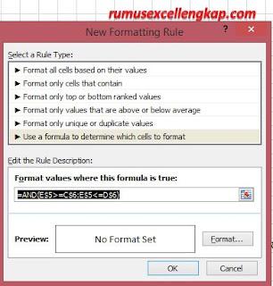 mengatur format warna conditional formatting
