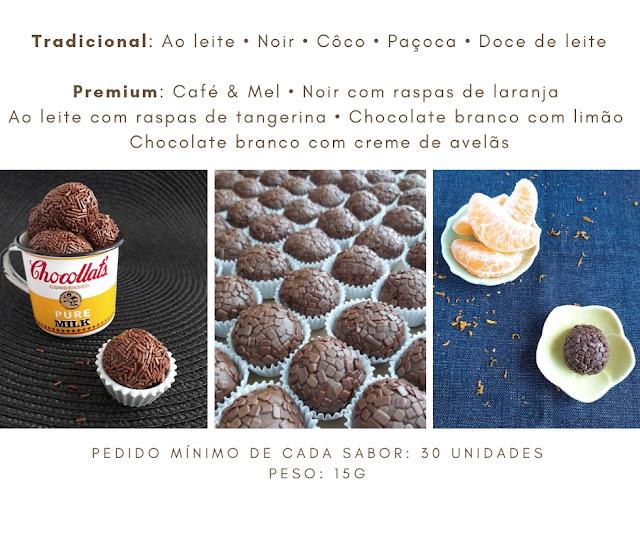 Tabela de Brigadeiros - Chokolateria Karla Alves Leal
