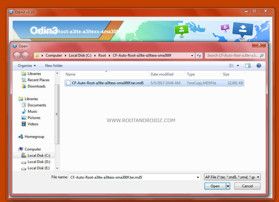 Root File Download