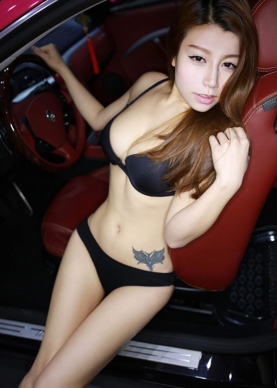 Asian Girl Jia Baobier Vetiver 嘉宝贝儿 Big Boobies Bikini Tempting Seamless Bodies