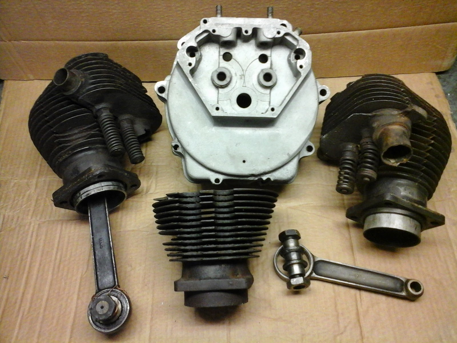 Vintage Norton Motorcycles: 1920s Norton engine parts - SOLD