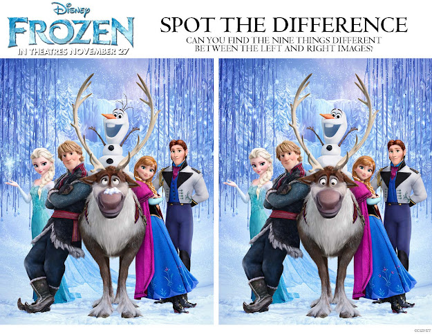 Disney Frozen Spot The Difference Printable