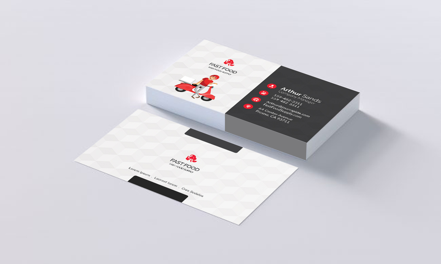 Fast Food Business Card Inspiration Design And Download Free PSD