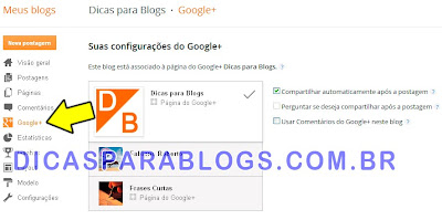 Compartilhar (enviar) Posts do Blogger para o Google Plus
