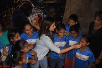 Alia Bhatt in Denim and jeans with NGO Kids 04.JPG