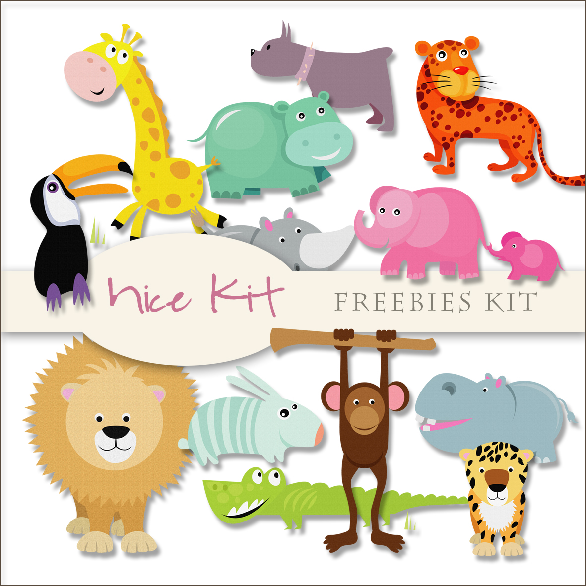 Scrap Dot Freebies Kit Of Nice Animals
