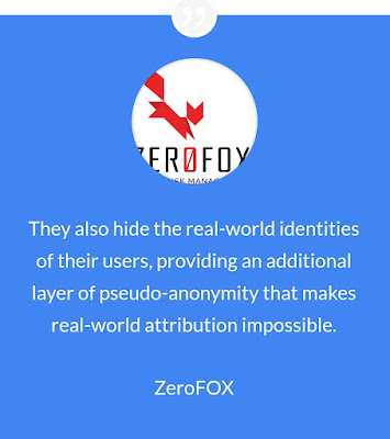 Zero Fox : Security company for social networks warns about scams with Bitcoiins.
