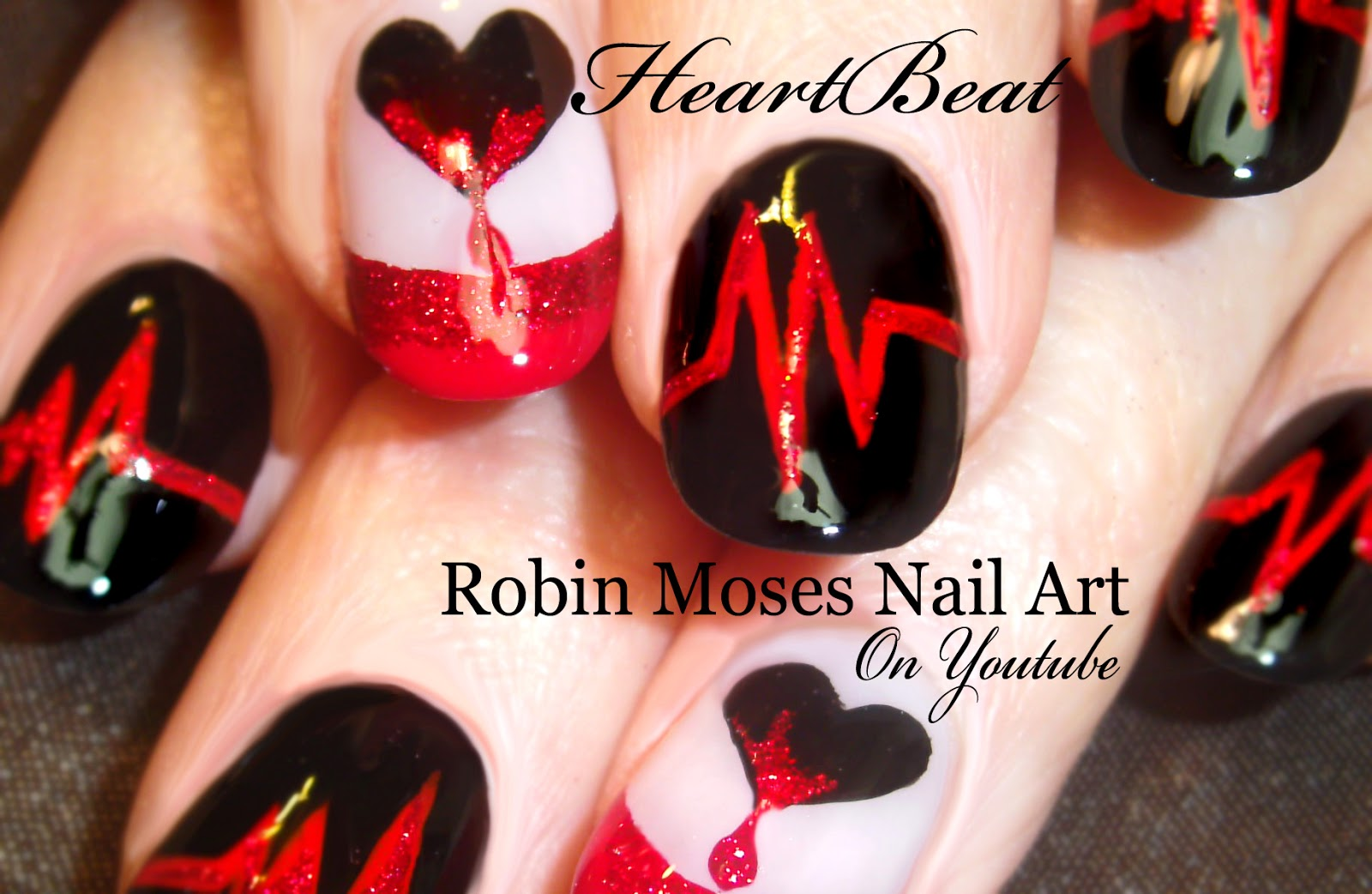 Nail art designs besides red nail art designs on top nail art images - Red And Black Nail Art Designs View Images