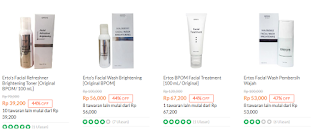 Harga Ertos facial treatment Terbaru 2019