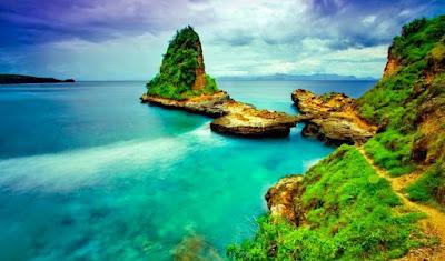 tempat-wisata, lombok, pantai-tanjung-bloam