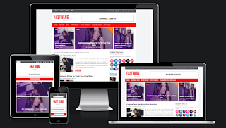 fast blog blogger template responsive free