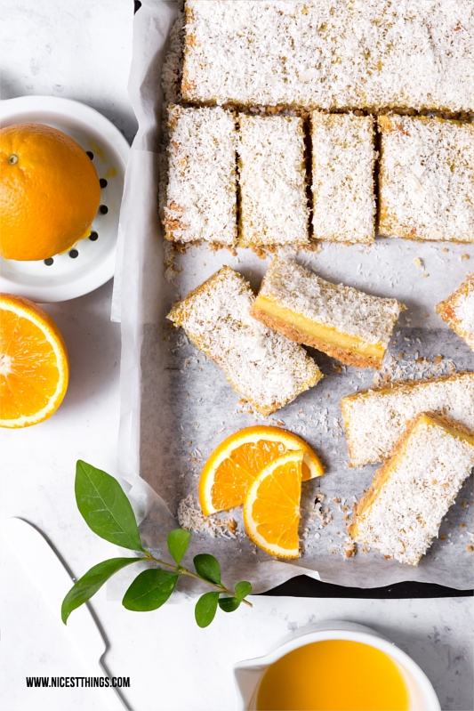 Healthy Orange Cashew Bars, gesunde Orangen Schnitten