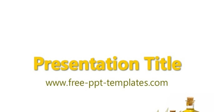 Olive Oil PPT Template