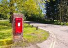 Photograph of post box on Bell Lane, Bell Bar, May 2018 Image by the North Mymms History Project