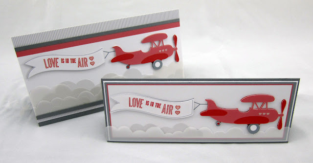 Love is in the Air Valentine's Plane Banner Card- FREE Silhouette file - by Janet Packer (Crafting Quine). Originally published on http://craftingquine.blogspot.co.uk/2017/02/love-is-in-air-valentine-card-with-free.html