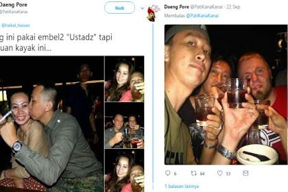 Heboh Foto Diduga Mirip Abu Janda Minum-minum dan Cium <i>Wedokan</i>