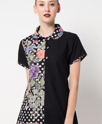 35+ Model Baju Batik Kombinasi Polos Paling Serasi WAJIB Punya