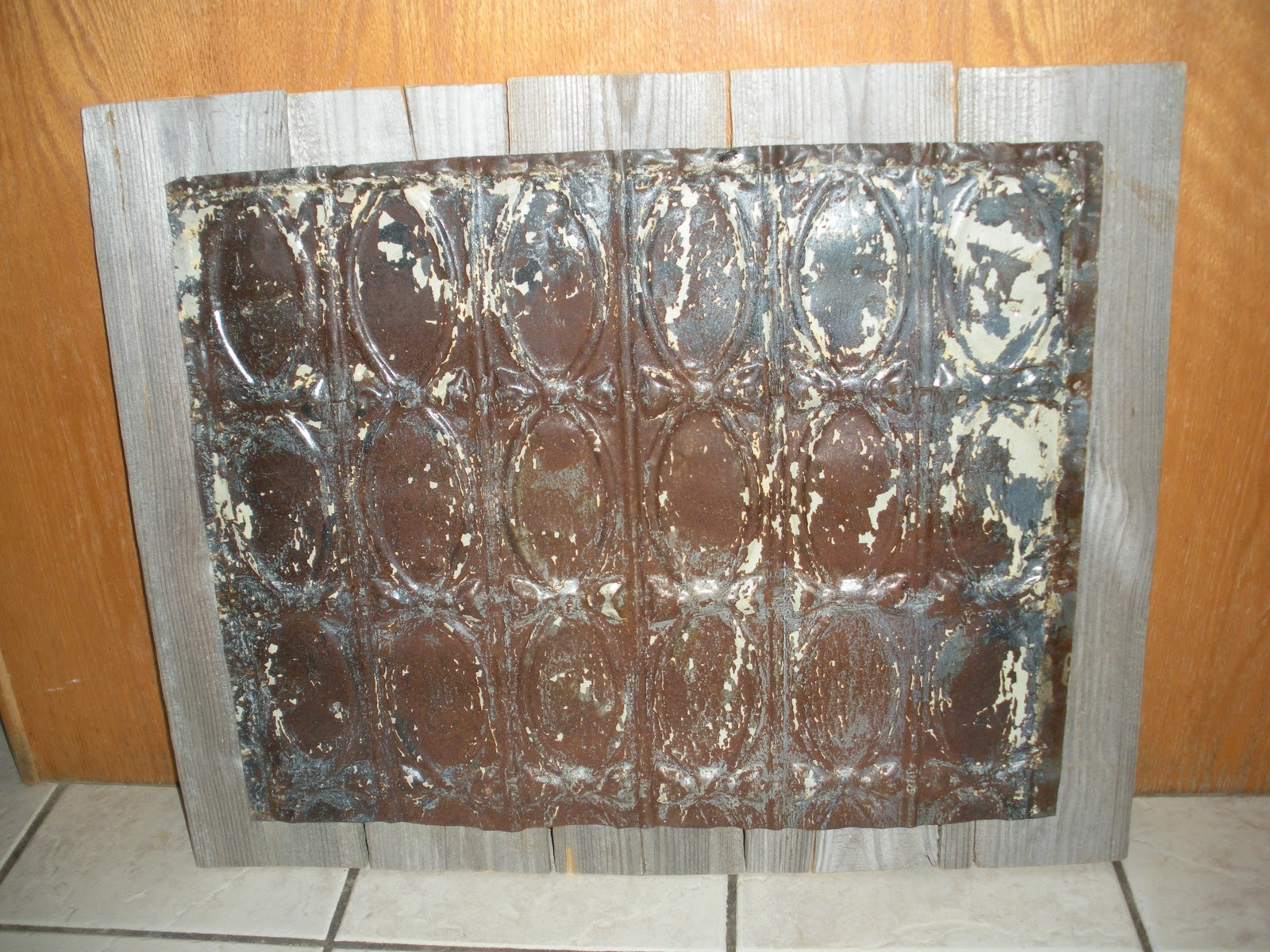 The JUNKtion: Repurposing A Ceiling Tile For Home Decor