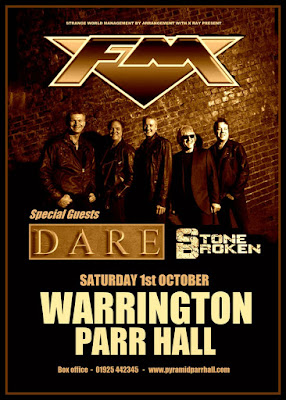FM - Dare - Stone Broken - Warrington Parr Hall - 01 October 2016 - poster