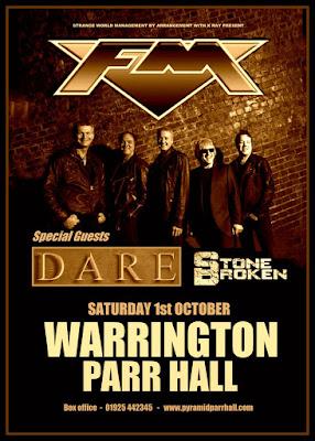 FM - Dare - Stone Broken - Warrington Parr Hall - 01 October 2016 - poster