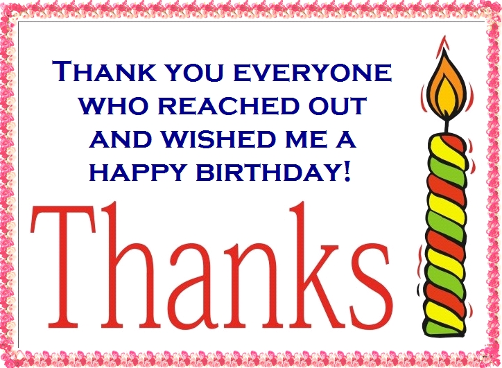 Thanks for the birthday wishes notes and quotes birthday thank you card wording m4hsunfo