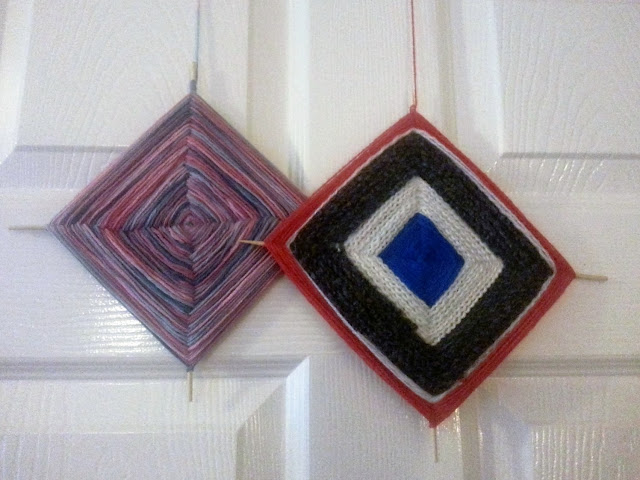God's eye decorations in different colourways
