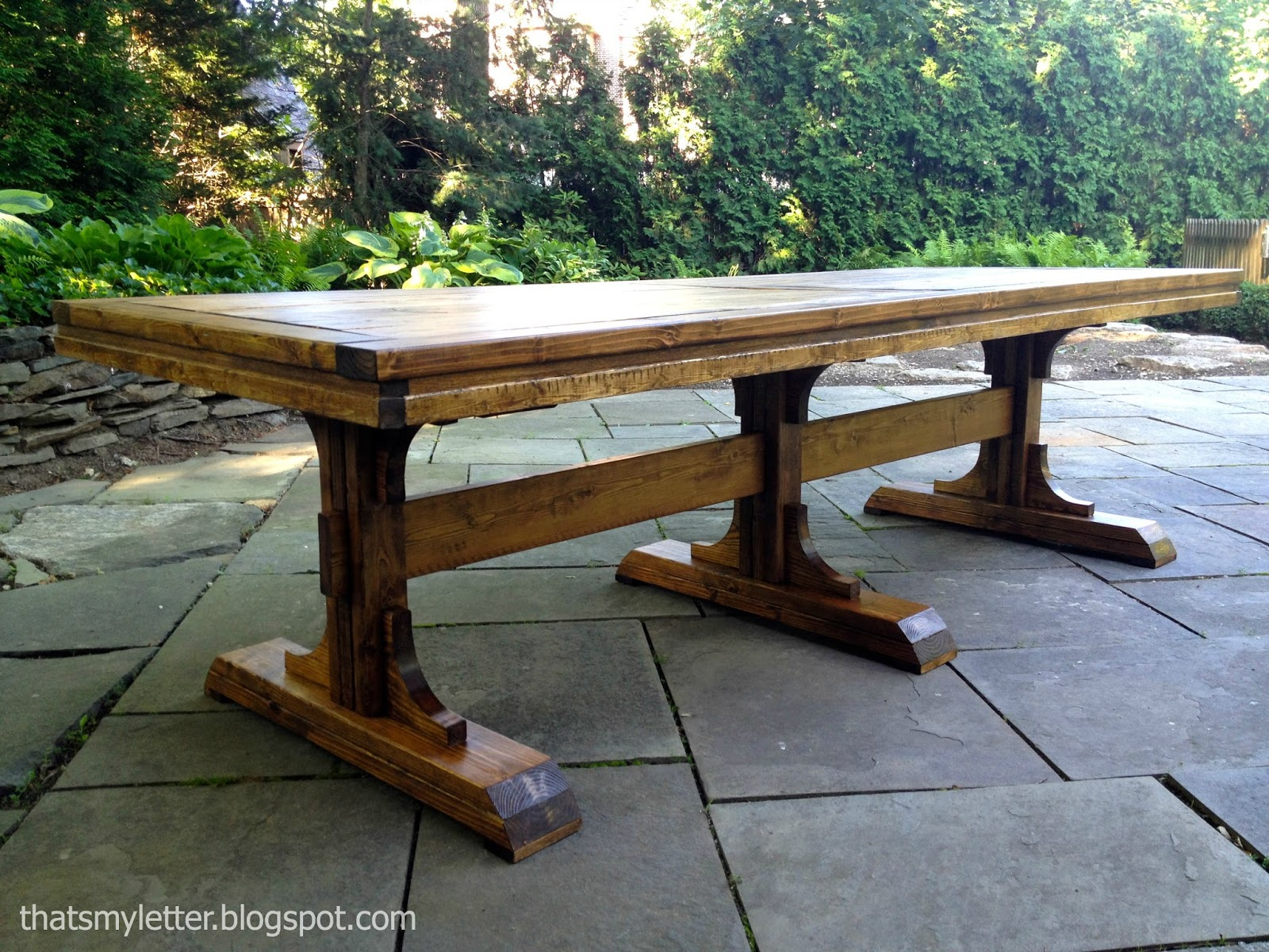 Diy 8 Person Dining Table That 39s My Letter Diy Triple Pedestal Dining Table