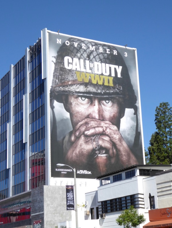 Call of Duty WWII game teaser billboard