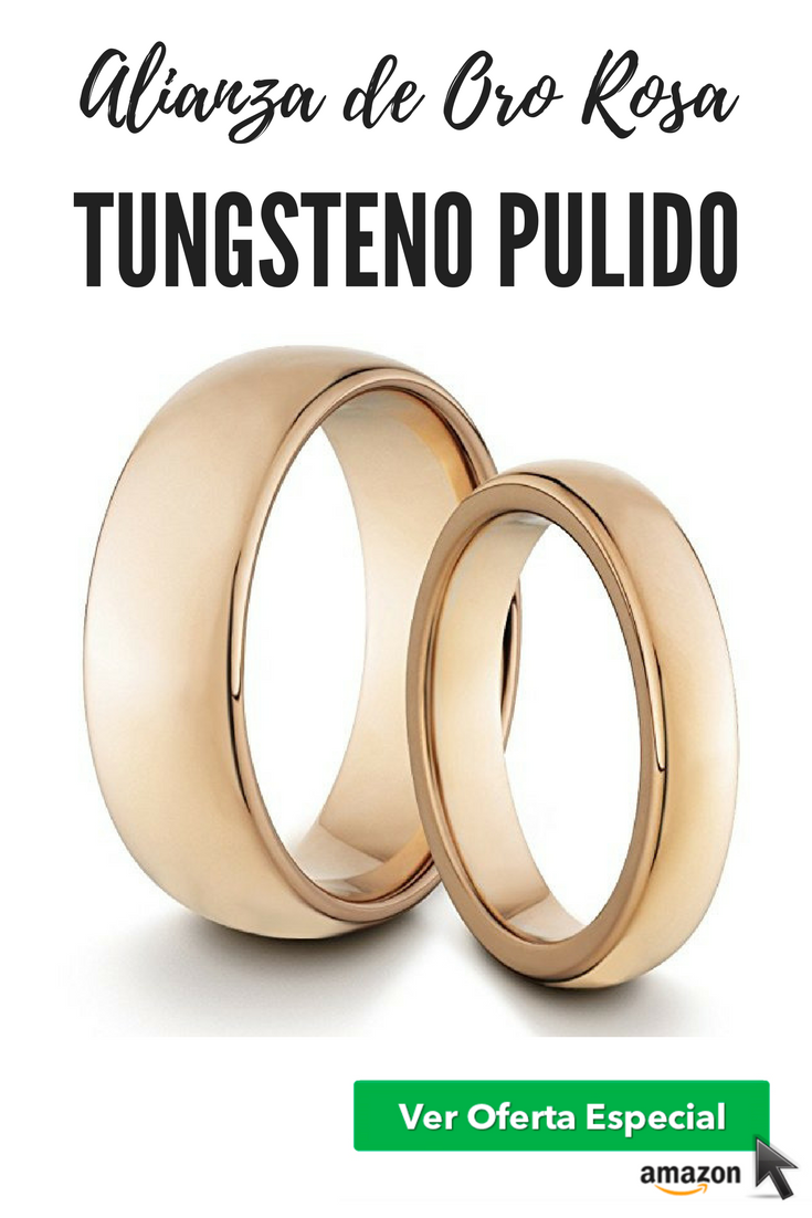 El regalo perfecto:Alianza de Oro Rosa ''Classic Rose Gold Set 4mm/8mm''
