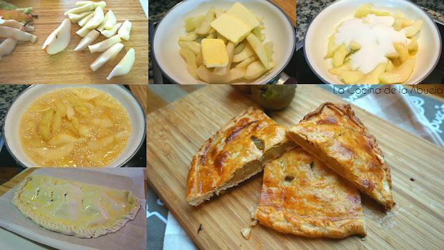 Pastel tarta pera confitada receta