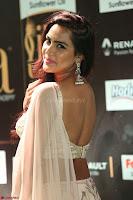 Prajna Actress in backless Cream Choli and transparent saree at IIFA Utsavam Awards 2017 0097.JPG