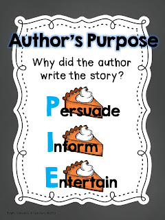 author's purpose charts