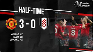 HT: Manchester United 3 - 0 Fulham