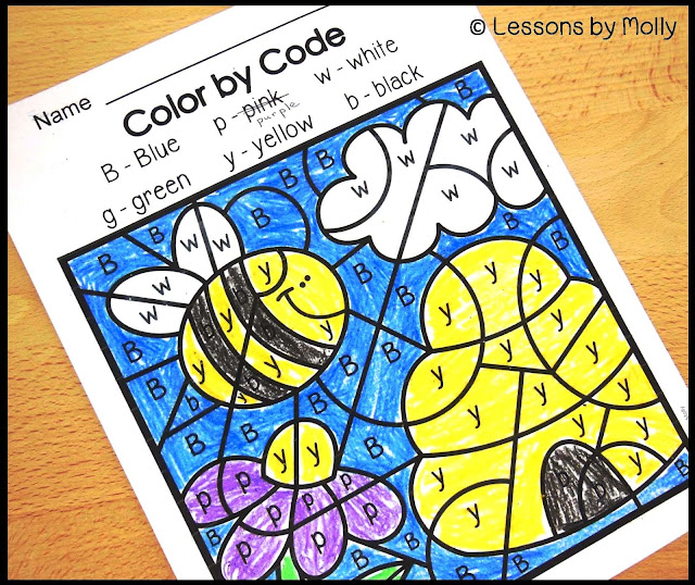 """Color by Code"" printable pages are always a hit with children who love to color!  They can incorporate a wide variety of topics such as animal groupings, multiplication facts, color word recognition and more!  This color by code printable page is a free download!  Children identify the letters of the alphabet that are shown in each section of the coloring sheet and color the sections according to the key which is shown at the top of the page.  They'll enjoy taking their finished work home!"