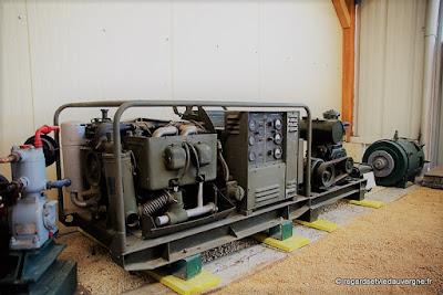 Musée : Electrodrome de Magnet, Allier. génératrice.