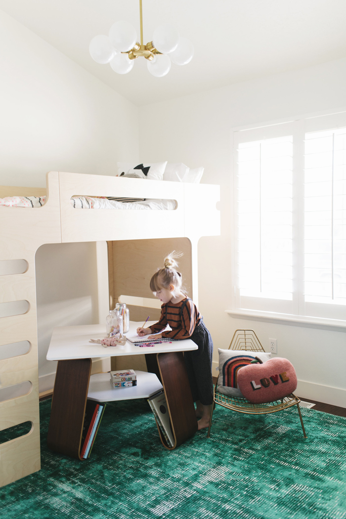 Sloane's modern room with Rafa-kids F bunk bed