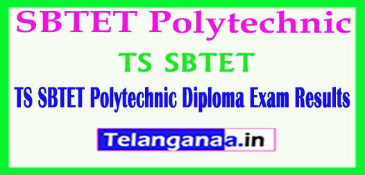 TS SBTET Polytechnic Diploma Results 2018