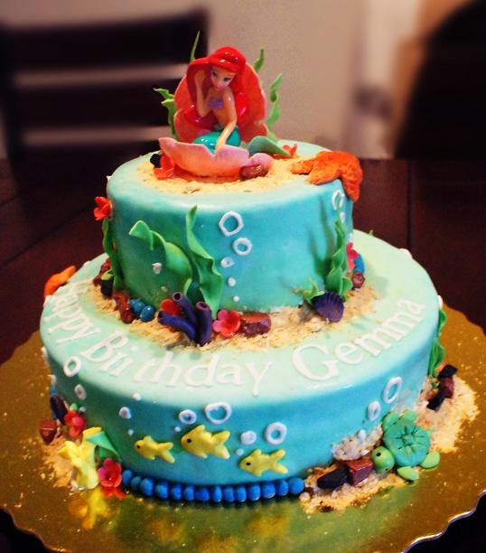Gemma S Mom Gretchen Wanted Me To Make A Little Mermaid Cake For Her Daughter 4th Birthday And Since I Didn T Have That Much Time