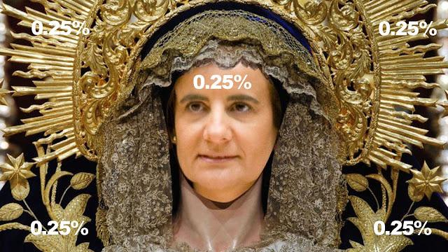 Ésta señora dice que los pensionistas hemos ganado poder adquisitivo, por el 0.25% de subida de las pensiones.