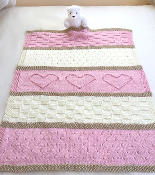 Baby Heart Blanket Knit Pattern