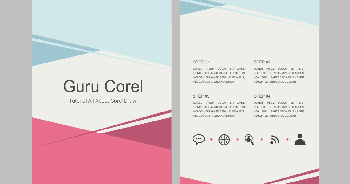 Corel Draw Book Cover Design Tutorial : Cara membuat brosur sederhana dengan coreldraw