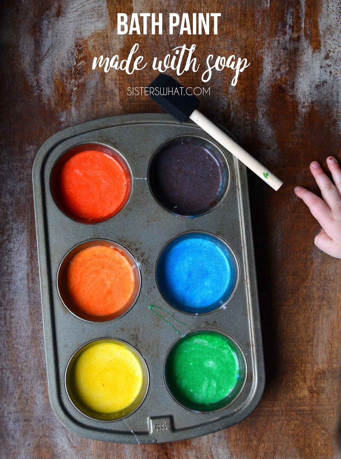 Homemade Bath Paint Soap and Cornstarch, perfect as a rainy day activity