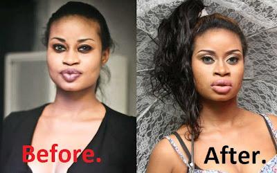 nigerian singer angelina jolie lips