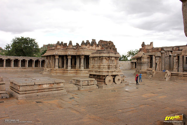 The magnificent Vithala temple courtyard, Hampi