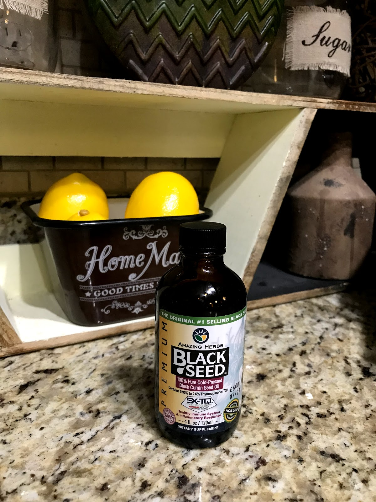 Image: Black seed oil purchased from Whole Foods and shared on Weekend Bits And Favorites.