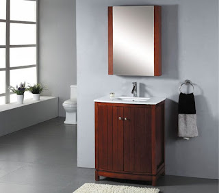 Single bathroom vanity set